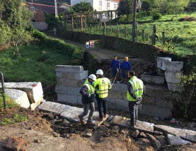 Obras de Emergencia ''Pontón sobre o Rego de San Xusto - acceso aldea de Pastoriza (Concello de Noia)''