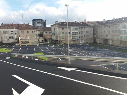 Adecuación de parcela municipal para aparcamiento público en superficie en la avda. De Ferrol.