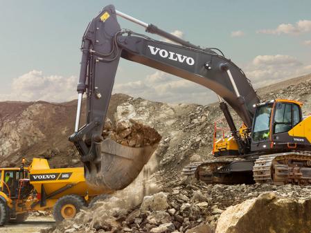 Retro cadenas Volvo EC 750